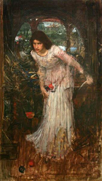 Waterhouse, John William, 1849-1917; The Lady of Shalott