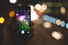 cellphone at night