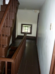 Landing and stairs in an empty house