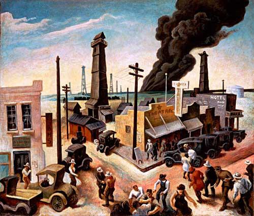 Thmas Hart Benton-Boomtown-mural