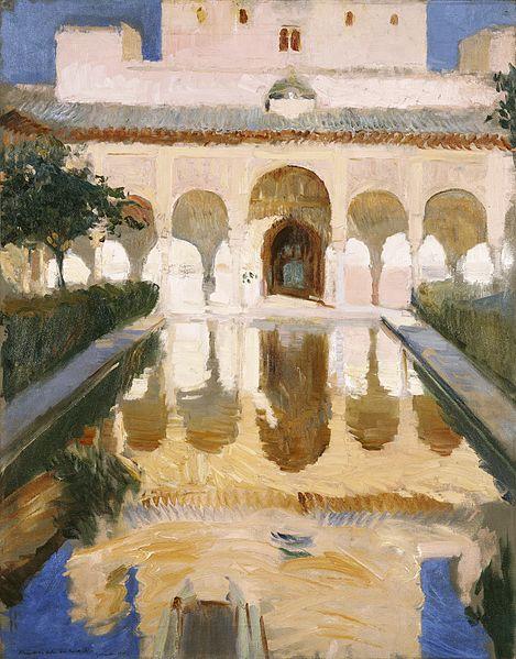 Joaquín_Sorolla_Alhambra,_hall of the ambassadors(1909)