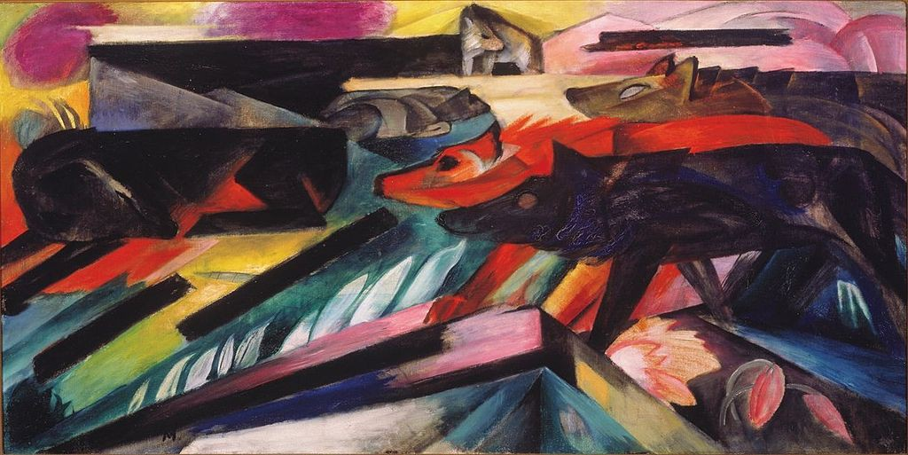 Franz_Marc_the wolves 1913