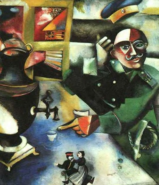 marc chagall the soldier drinks